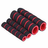 Грипсы 2+2 вело неопреновые ручки велосипедные red