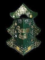 Новогодняя Упаковка ЯЛИНКА Крафт Золото для подарков до 450г