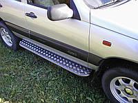 Боковые пороги площадки (труба с листом) порошок+дюраль Chevrolet Niva (шевроле нива/ ваз 21236) 2002+