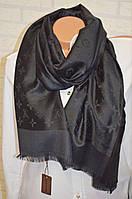 Стильный палантин шарф Louis Vuitton черный