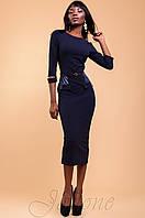 Элегантное темно-синее платье Ненси 42-48 размеры Jadone