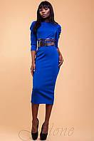 Элегантное женское платье Магикан электрик 42-48 размеры Jadone
