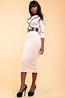 Элегантное бежевое женское платье Магикан   42-48 размеры Jadone