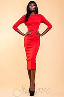 Элегантное красное женское платье Магикан   42-48 размеры Jadone