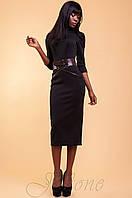 Элегантное черное женское платье Магикан   42-48 размеры Jadone