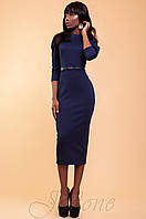 Элегантное темно-синее женское платье Магикан  42-48 размеры Jadone