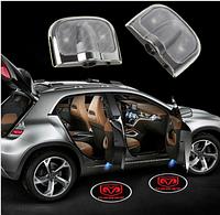 Набор из двух светодиодных подсветок на двери с логотипом автомобиля Courtesy Door Light R399C