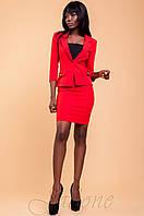 Офисный женский красный костюм  Терри  42-48 размеры Jadone