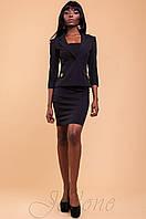 Офисный женский черный костюм  Терри  42-48 размеры Jadone