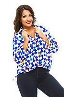 Блуза женская полубатал пуговицы, фото 1