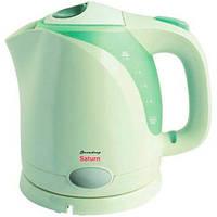 Электрочайник Saturn ST-EK8003  (Зеленый) дисковый чай кофе капучино лате свежий кофе