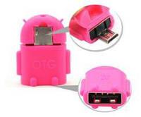 Переходник RIDATA OTG - micro USB для планшета смартфона андроид розовый