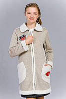 Кардиган для девочки на плюшевой подкладке