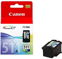 Картридж Canon CL 511 Color цветной для принтера / МФУ