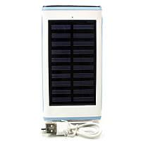 Дополнительный внешний аккумулятор на солнечной батарее Power bank Solar Water Cube 20000 mAh (Синий)