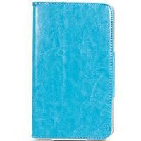 Чехол книжка подставка  M718 для планшетов Samsung 7 дюймов Голубой