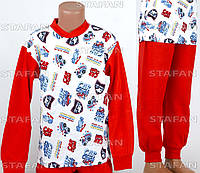 Детская пижама на мальчика интерлок AYL D24 7-R. Размер на 7 лет.
