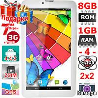 Телефон Планшет Навигатор Samsung Tab 7 HD 1024 х 600 OЗУ 1 Гб Flash 8 Гб 2 сим Андроид 4 4 GPS 3G 3000 mAh
