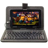 Чехол с клавиатурой для планшета 7 дюймов micro usb Black