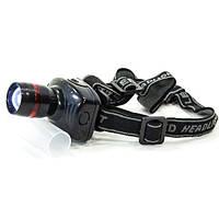 Фонарь налобный светодиодный ZBL туристический (Черный)