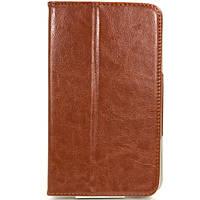 Чехол Книжка Подставка для планшета 7 дюймов Samsung Коричневый