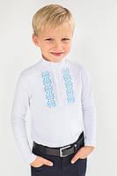 Гольф-вышиванка для мальчика Модный карапуз белый