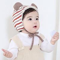 Детская шапка с мехом
