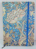 Блокнот на резинке A5 A-Plus А555 (100 листов) кремовая бумага, обложка твердая, клетка, ассорти