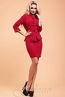 Офисный женский красный костюм Алекси  42-48 размеры Jadone