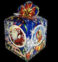 """Новогодняя Упаковка 13х13 см """"Бант Снігурка"""" для сладостей до 700г"""