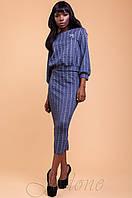 Трикотажный темно-синий женский костюм  Колинс 42-48 размеры Jadone