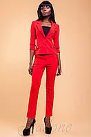 Женский офисный красный костюм с брюками Терри-2 42-48 размеры Jadone