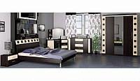 София спальня 3Д (Мебель-Сервис) венге темный/венге светлый