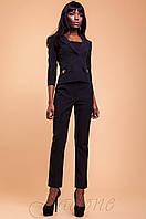 Женский офисный черный костюм с брюками Терри-2 42-48 размеры Jadone