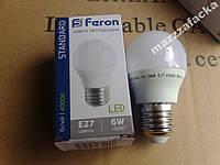 Мощная LED лампа 6w шарик FERON LB-720 E14/E27