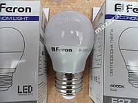 Мощная LED лампа 4w шарик FERON LB-380 E14/E27
