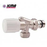 Icma 2-х угловой вентиль, с возможностью установки термоголовки 870