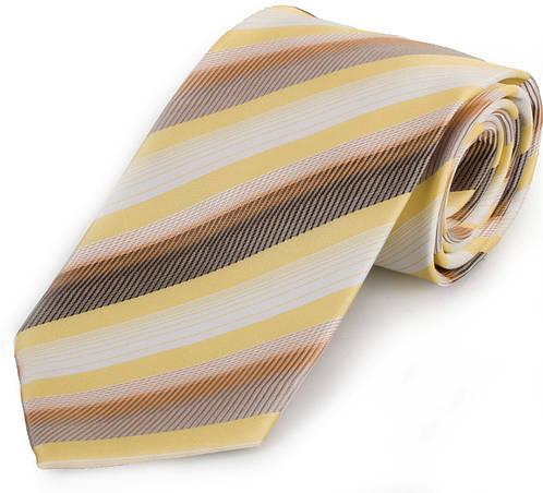 Нежный мужской широкий галстук SCHONAU & HOUCKEN (ШЕНАУ & ХОЙКЕН) FAREPS-71 желтый
