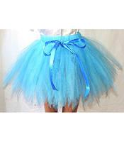 """Детская фатиновая юбка пачка ту-ту голубого цвета (от 2 до 6) """"Karnaval"""" LZ-1408"""