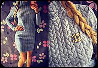 Стильное платье из стеганного трикотажа (арт. 393944130)