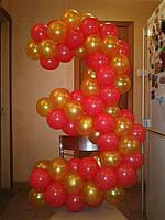 Цифра 3 из шариков.