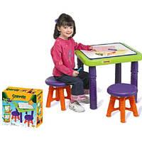 Парта детская со стульчиками Crayola
