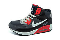 Кроссовки Зимние Женские Nike AirMax 703 Black Grey