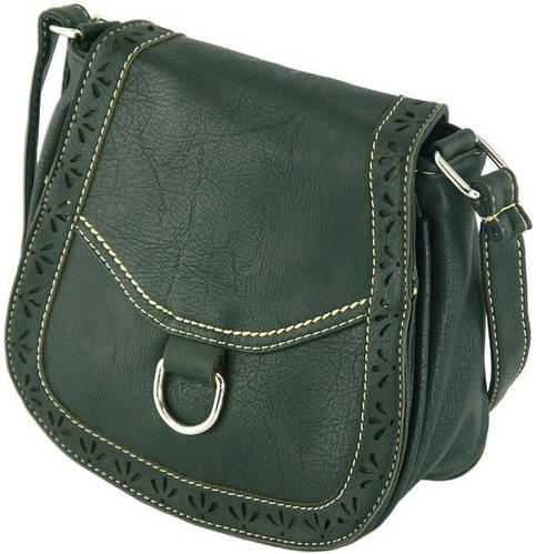 Удобная сумка через плече из искусственной кожи Traum 7215-40, черный