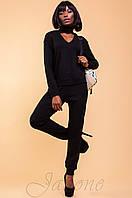 Женский черный костюм из ангоры  Флора   42-48 размеры Jadone