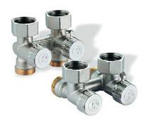 """R383Х002 Giacomini прямой отсечной клапан 3/4""""х3/4"""" для радиаторов с нижним подключением"""