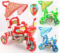 Велосипед GM 01 (3) 3-х колёсный с качалкой, 3 цвета, в кор-ке