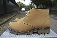 Женские зимние ботинки из натуральных материалов