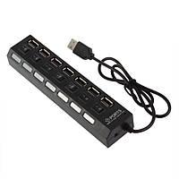 USB хаб Switch 7-Port black