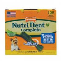 Nylabone (Нилабон) Nutri Dent Chicken Mini лакомство для чистки зубов для собак до 7 кг вкус курицы